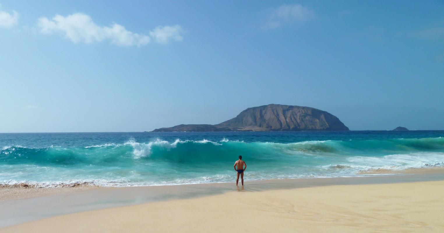 Itinerario de viaje en Lanzarote. Ruta una semana. La Graciosa. Playa de las Conchas