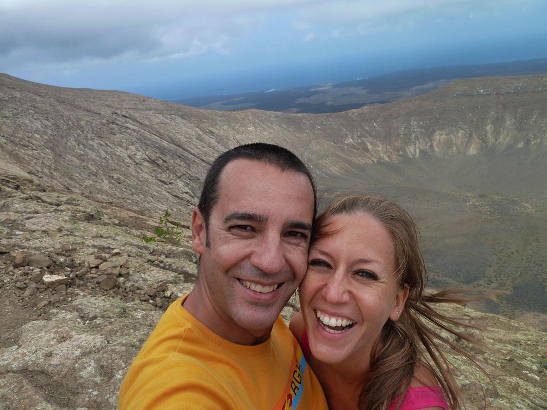 Presupuesto en Lanzarote gastos cráter ruta Caldera Blanca