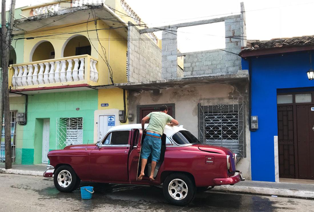 alojamiento en Cuba particular señalado con el ancla azul