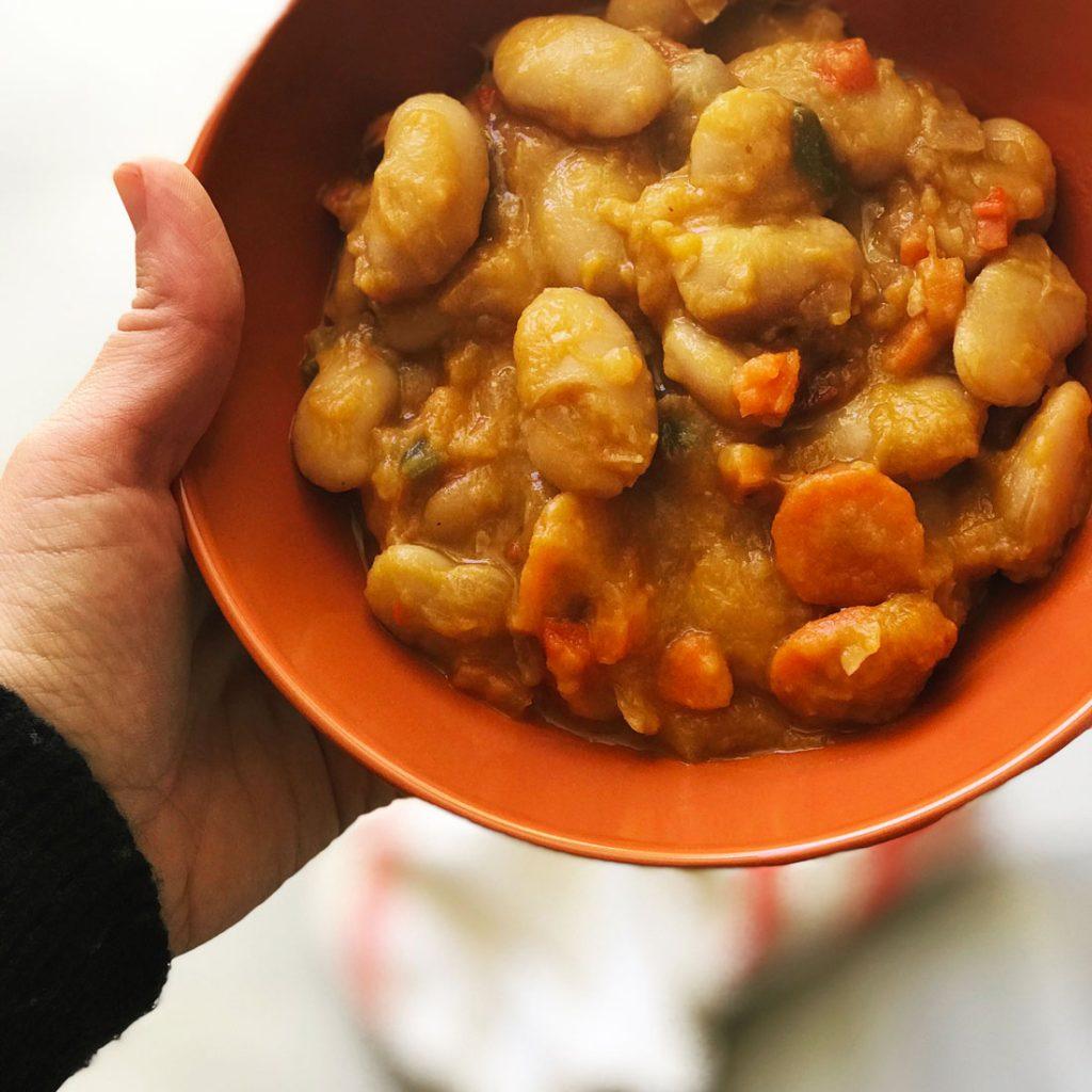 Come Vive Viaja blog recetas potaje de alubias y verduras