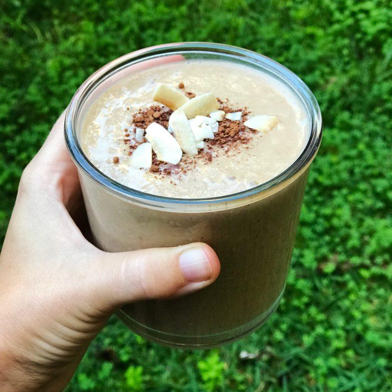 Come vive Viaja blog recetas batido de plátano y avena templado desayuno merienda