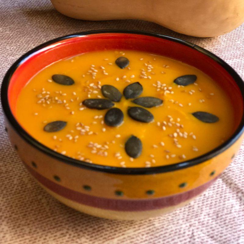 receta Come Vive viaja crema de calabaza y zanahoria