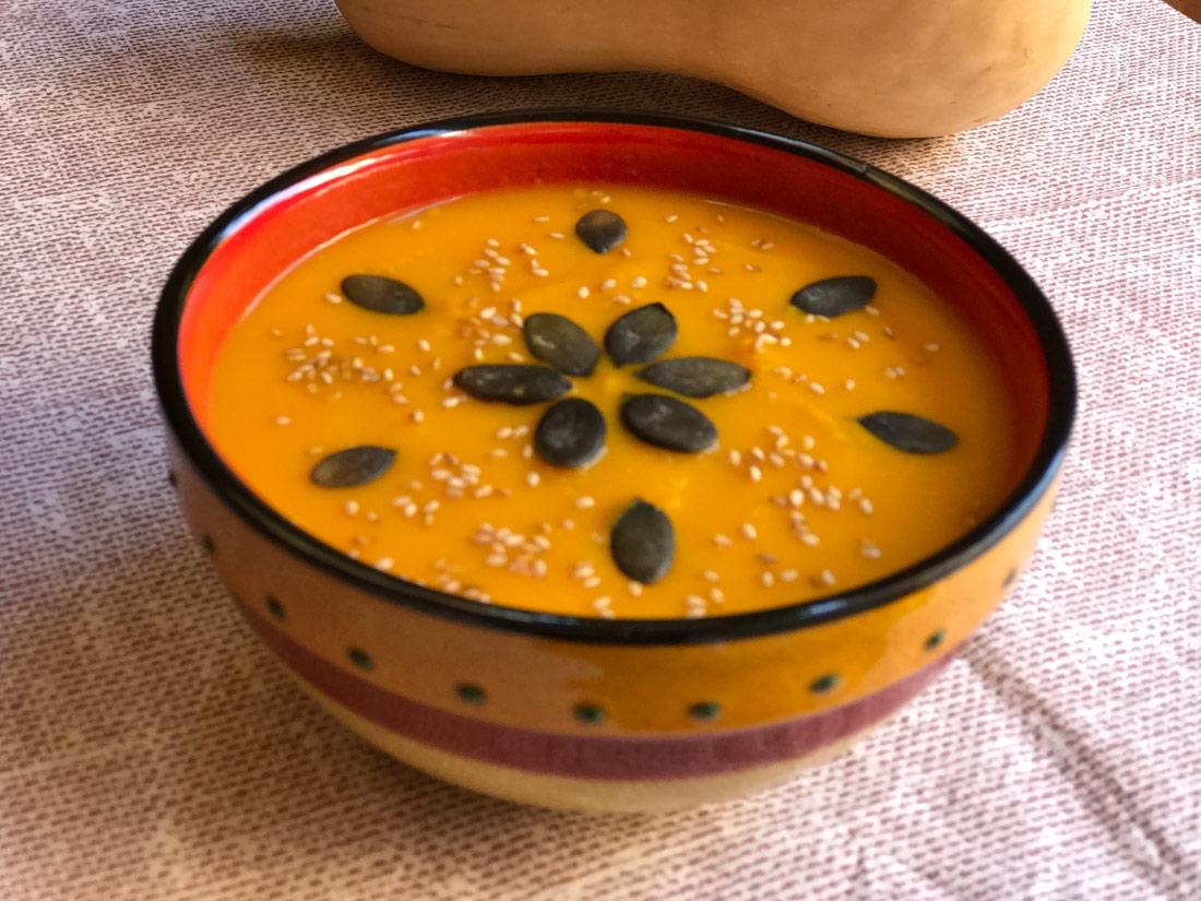crema de calabaza y zanahoria Come Vive Viaja verduras receta