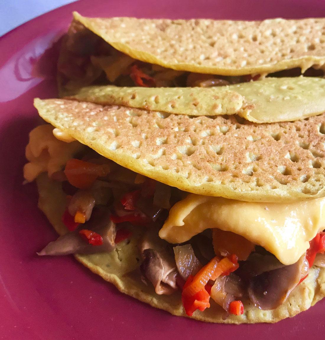 fajitas gluten lactosa veganas queso sarraceno Come Vive Viaja blog receta