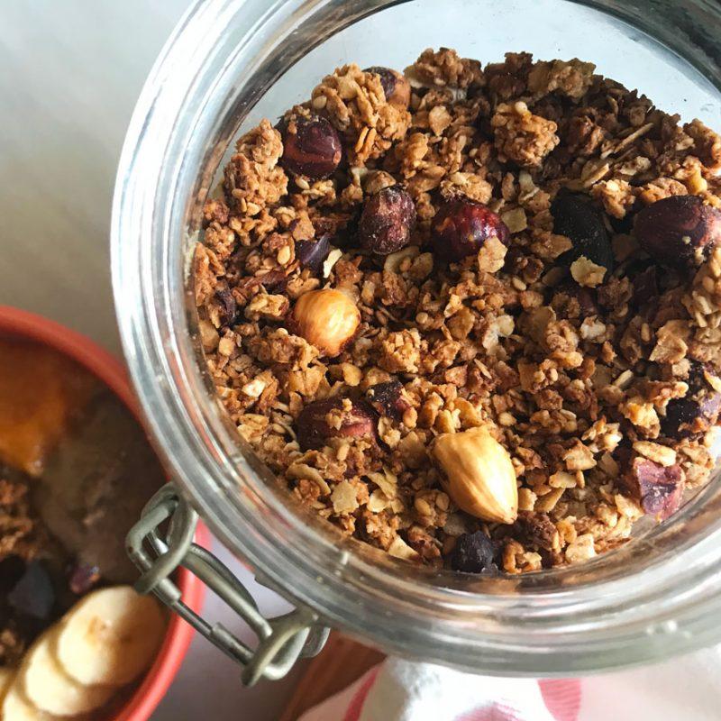 Come Vive Viaja blog recetas Granola de naranja y coco casera