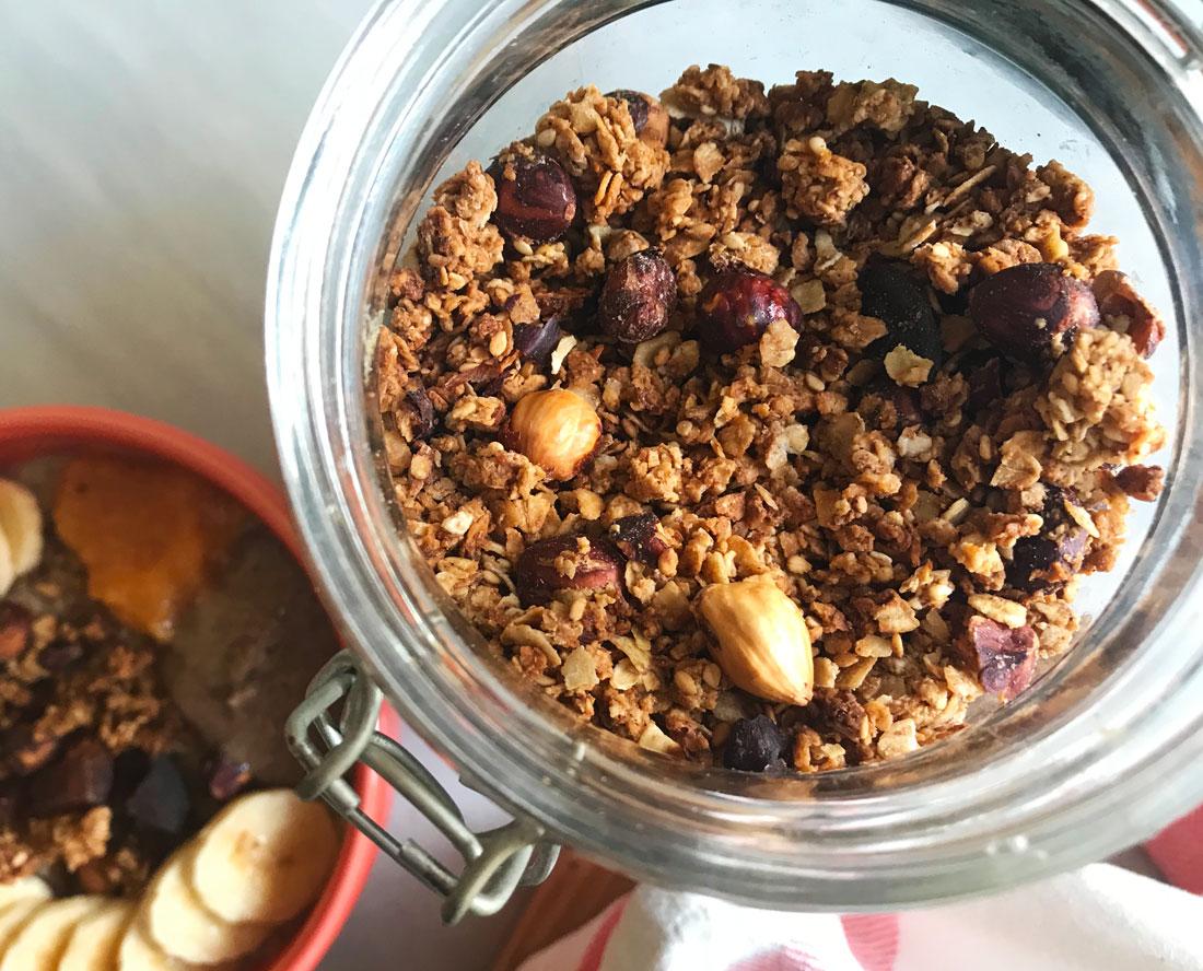 granola de naranja y coco Come Vive Viaja recetas blog desayuno