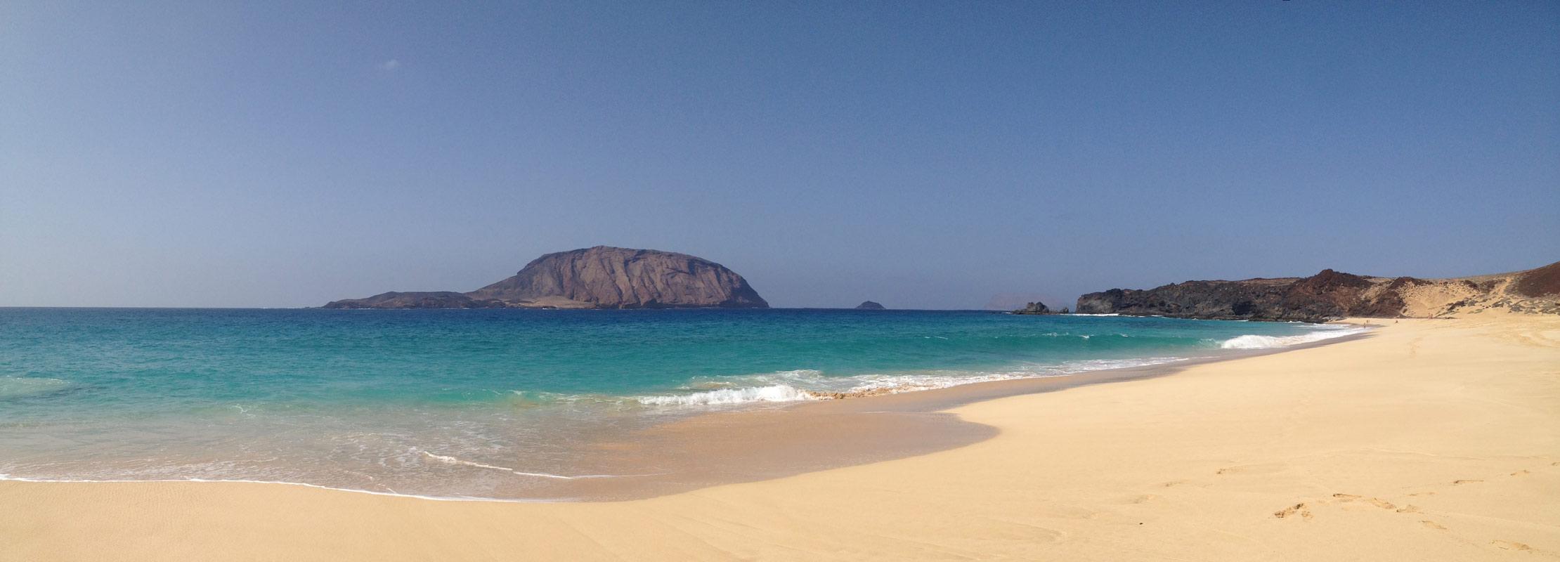 Presupuesto en Lanzarote gastos playa Conchas isla graciosa paraiso lanzarote