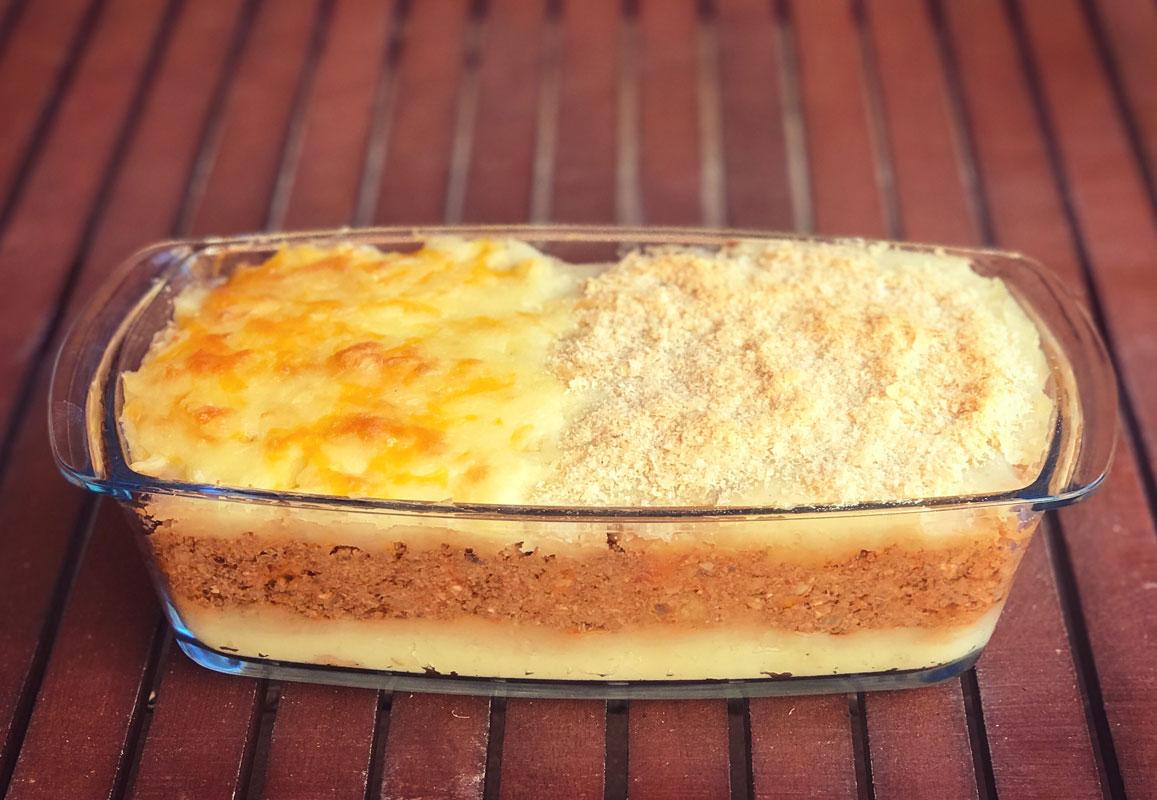 pastel de patata y carne vegano vegetal Come Vive Viaja recetas