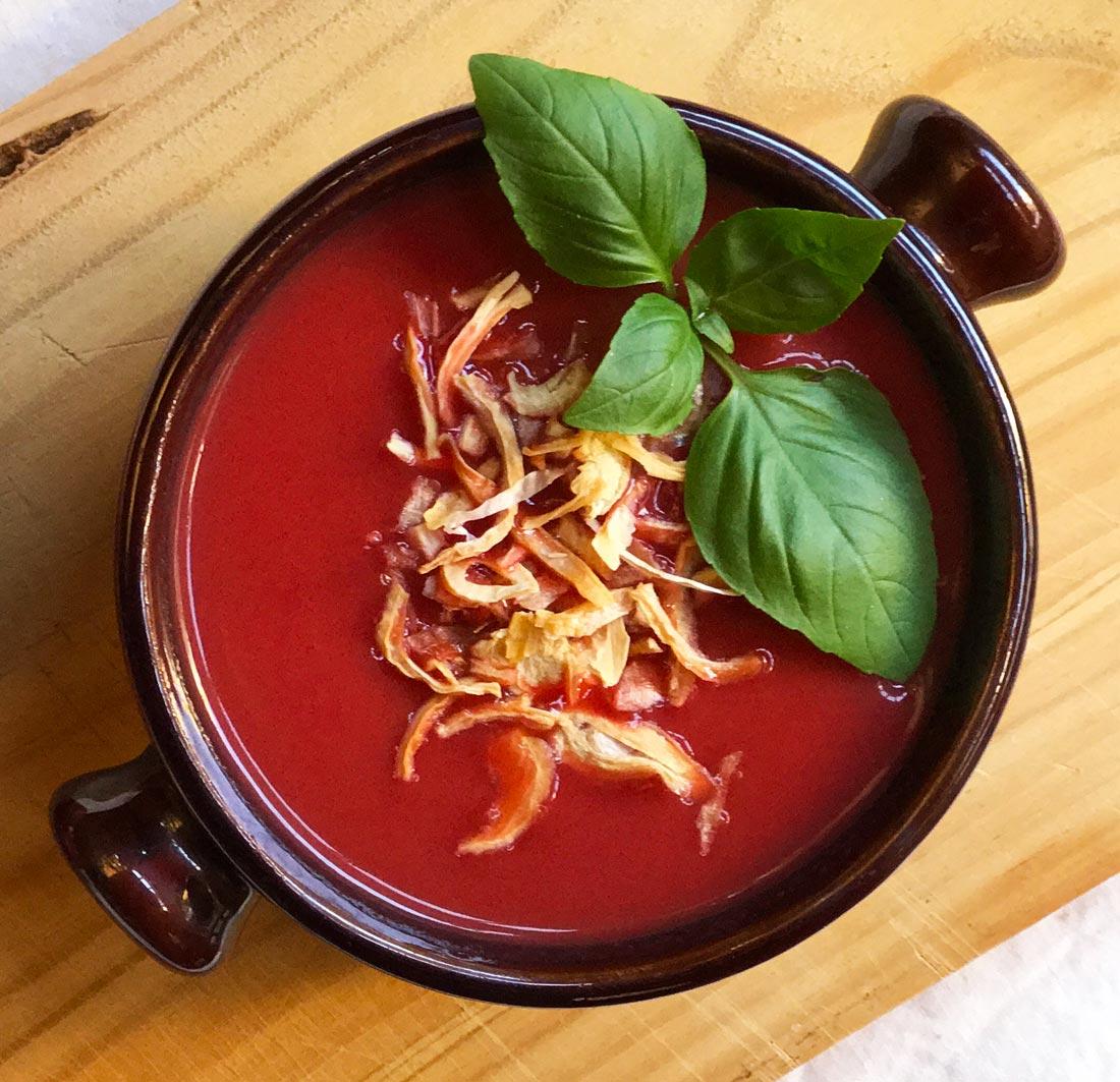 sopa crema de tomates asados Come Vive Viaja receta