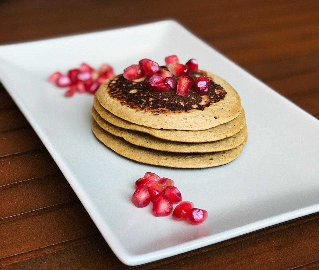 Tortitas de avena desayuno saludable fit receta Come Vive Viaja