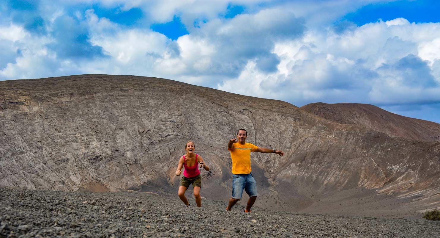 Ruta de la Caldera Blanca cráter volcán Lanzarote