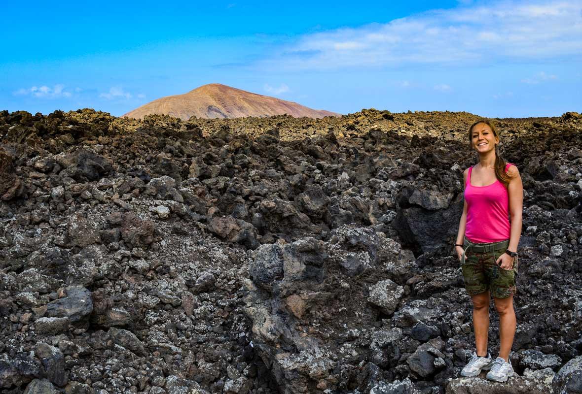 Ruta de la Caldera Blanca coladas lava Lanzarote