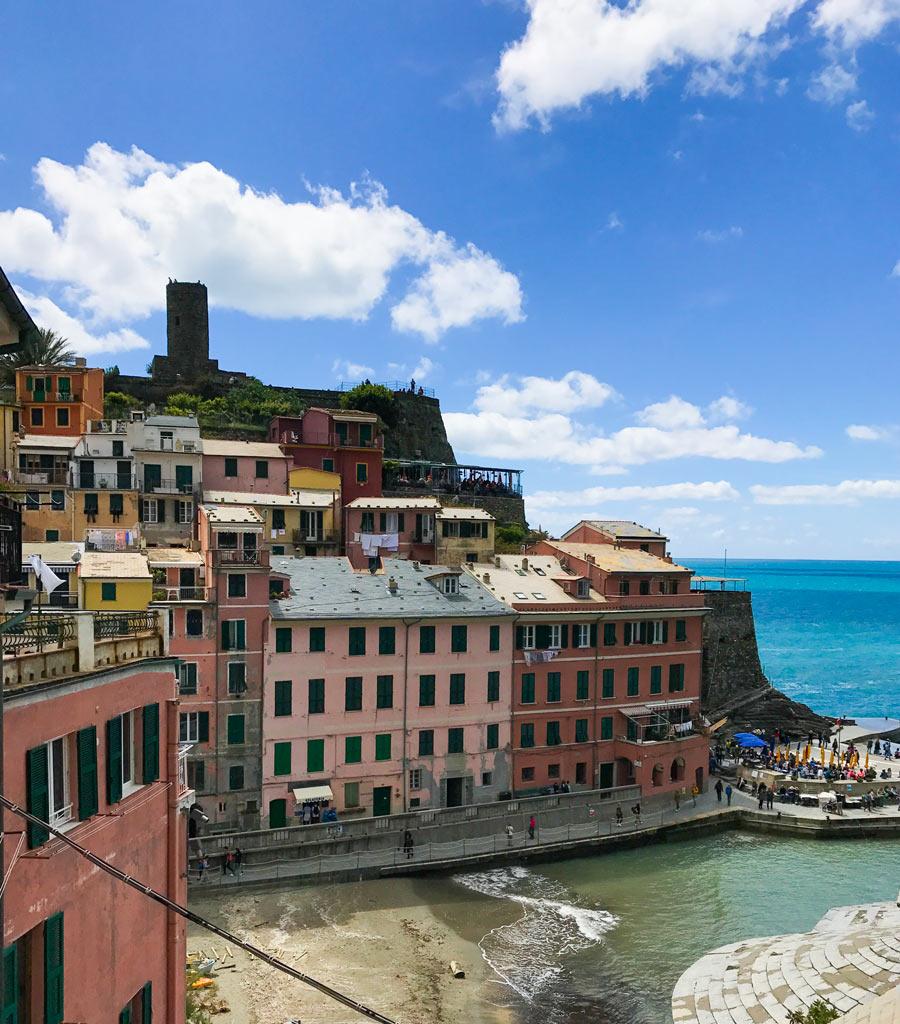 Cinque Terre. Qué ver y qué hacer. Come Vive Viaja Vernazza torre
