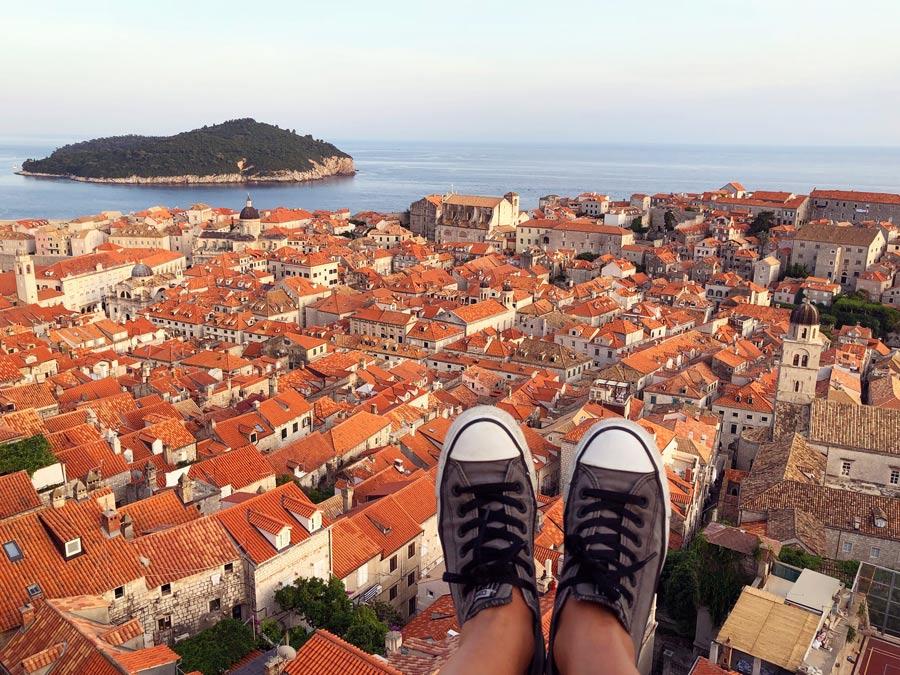 Itinerario Croacia 8 días Come Vive Viaja Road Trip blog viajes murallas de Dubrovnik