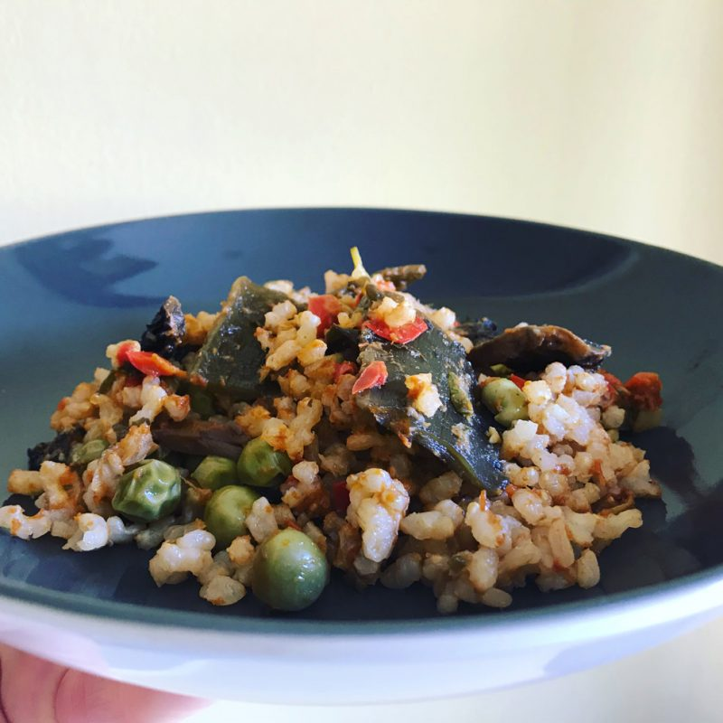 Arroz con verduras y wakame Receta con algas Come Vive Viaja Blog