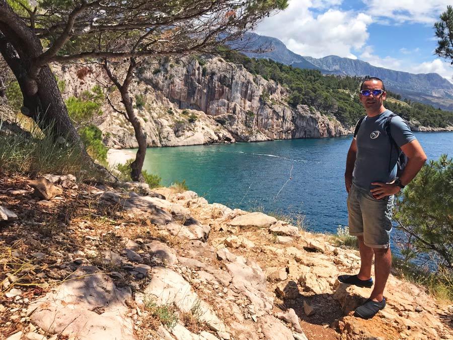 La mejor playa de Croacia. Nugal Beach Come Vive Viaja Blog Viajes chico viajero
