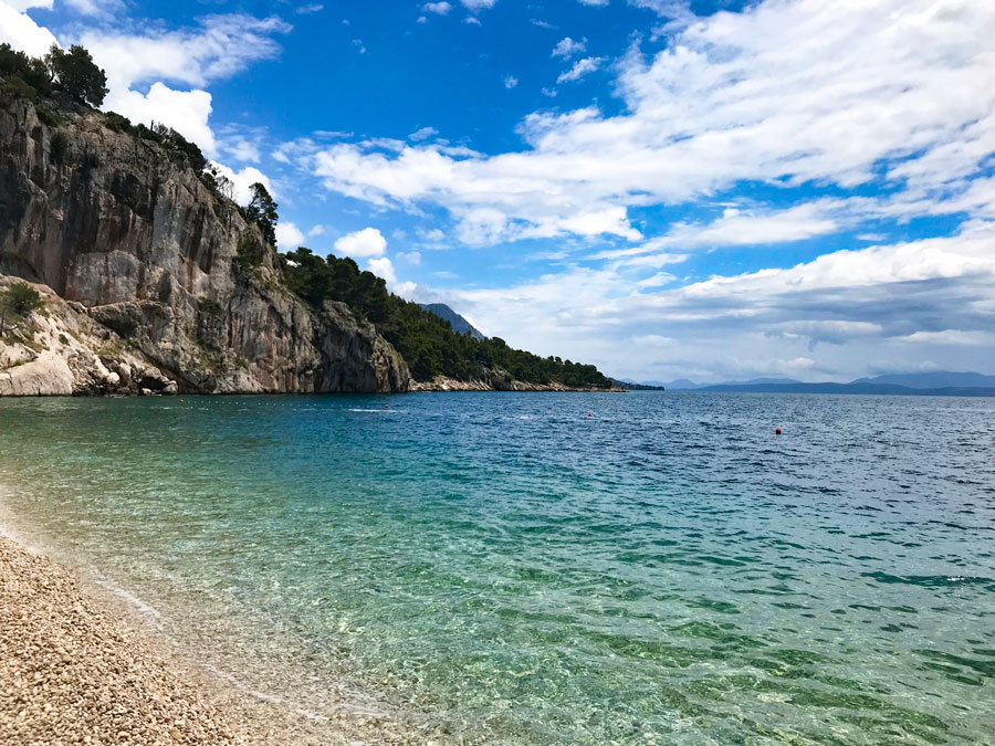 La mejor playa de Croacia. Nugal Beach Come Vive Viaja Blog Viajes agua turquesa