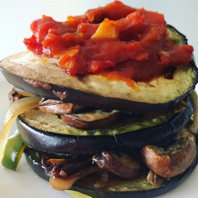Timbal de verduras y vinagreta de tomate receta salsa mejor Come Vive Viaja Blog Recetas