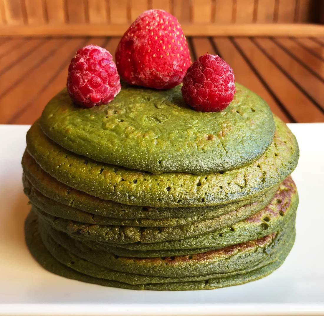 Tortitas de espinacas, green pancakes, fáciles, saludables, sin gluten, sin lactosa, receta
