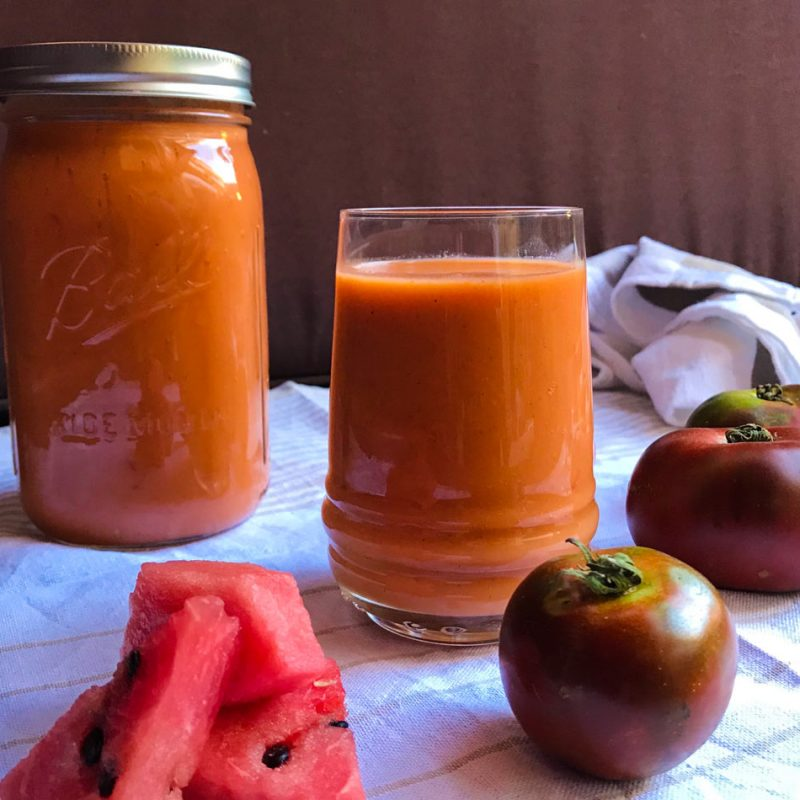gazpacho de sandía receta verano blog Come Vive Viaja