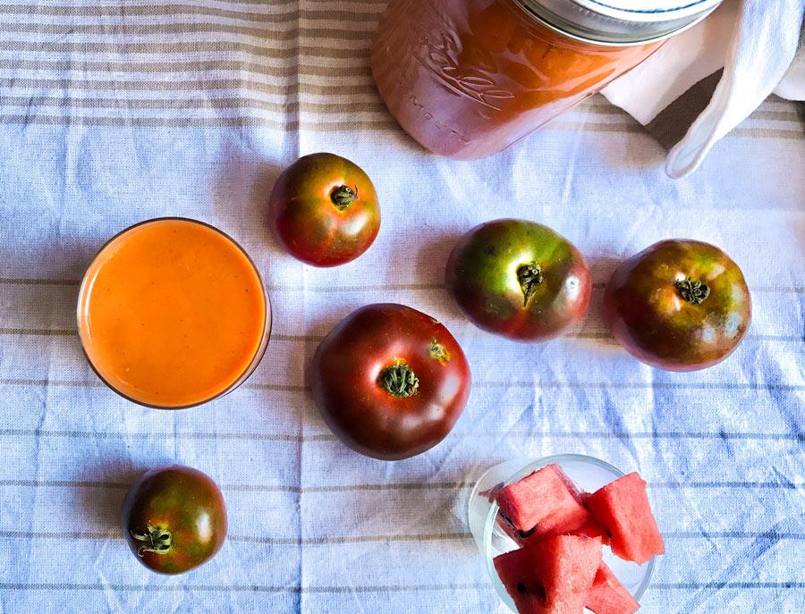 gazpacho de sandía tomate tradicional casero receta blog Come Vive Viaja