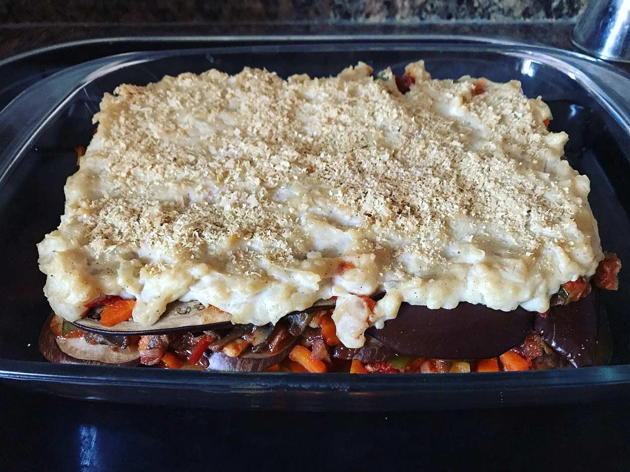 Moussaka de verduras veggie vegetal vegan vegetariana blog receta Come Vive Viaja