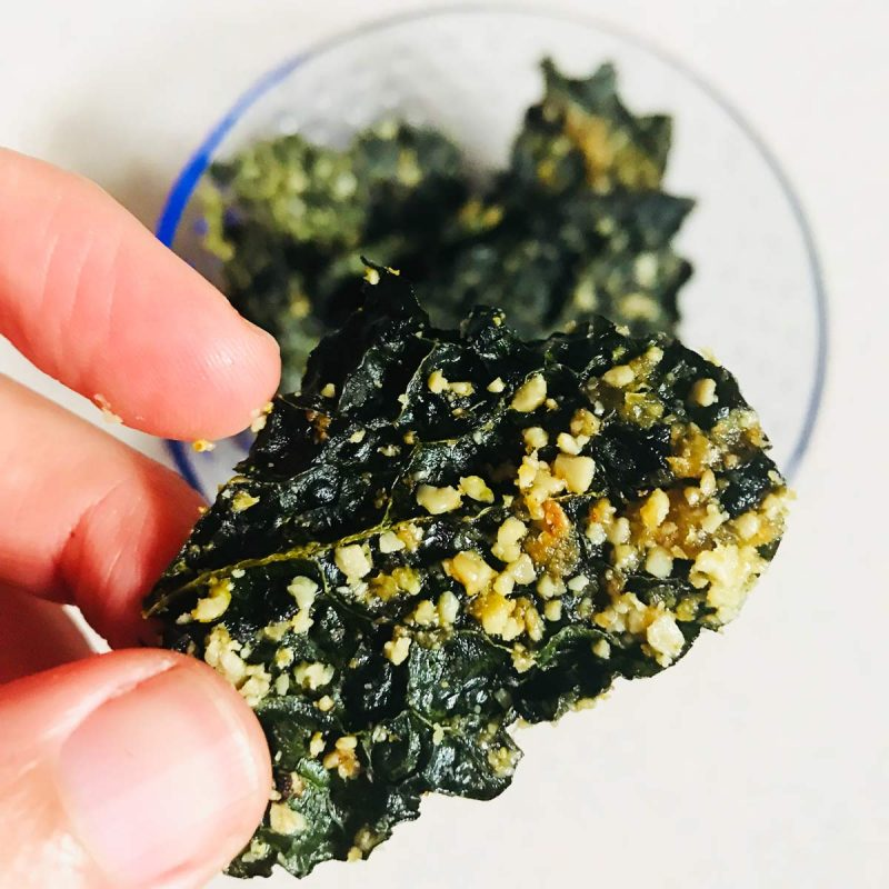 CHIPS DE KALE. Un snack salado y saludable