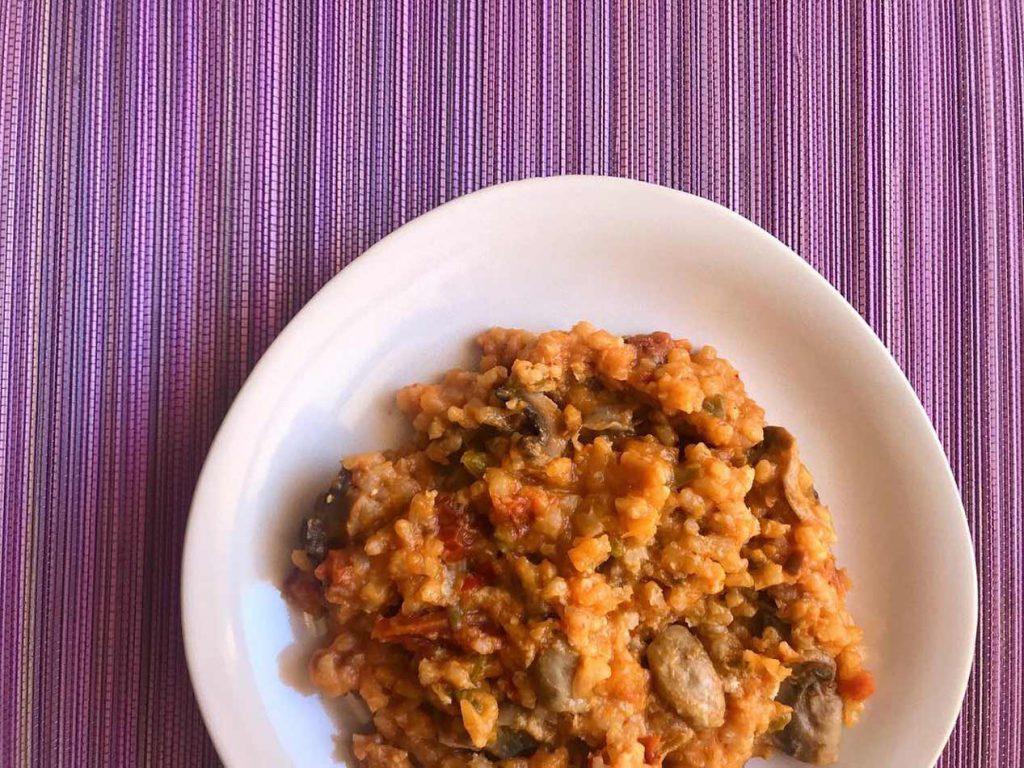 risotto de calabaza vegano sin lácteos sin queso sin nata Come Vive Viaja blog recetas