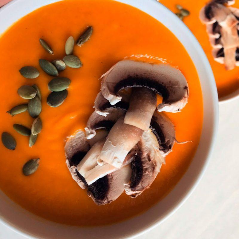 crema de zanahorias y calabaza receta come vive viaja Irene