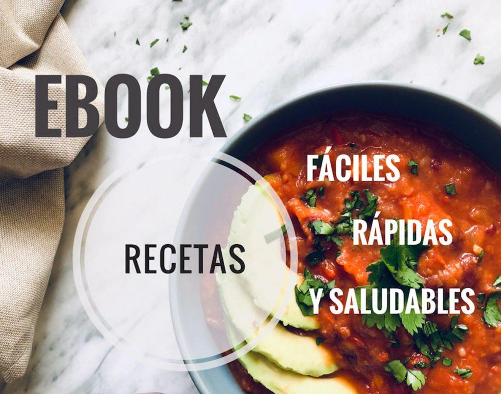Ebook blog recetas fáciles, rápidas y saludables cocina