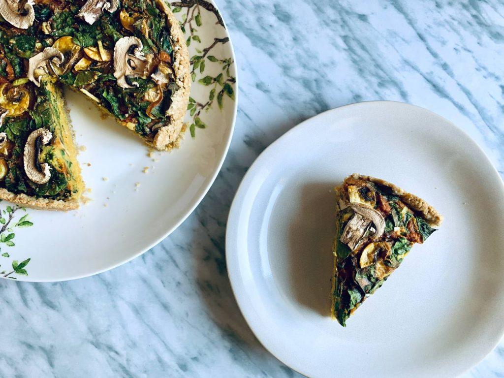 Quiche vegana sin gluten sin lácteos apta Come Vive Viaja receta