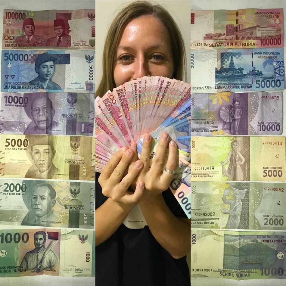 Cómo organizar tu viaje por libre a Indonesia. Preparativos dinero moneda efectivo Come Vive Viaja