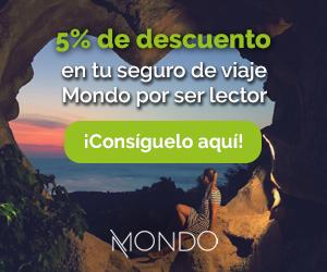 Descuento 5% seguro de viajes Mondo regalo el mejor seguro oferta