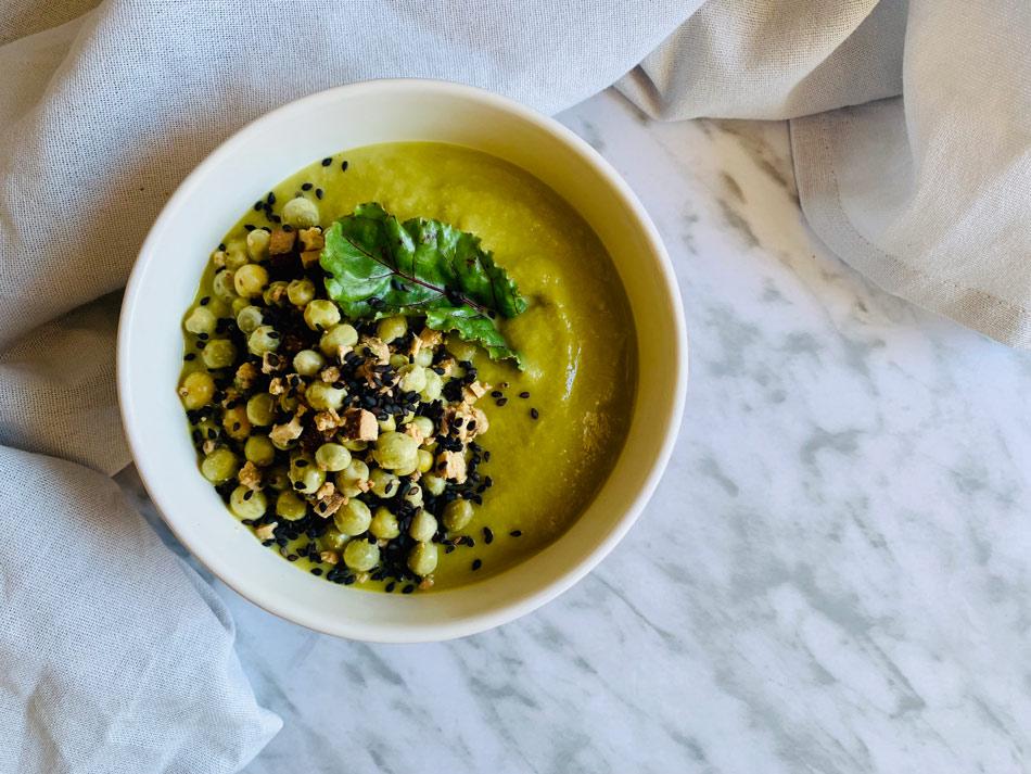 crema de guisantes y brócoli receta Come Vive Viaja