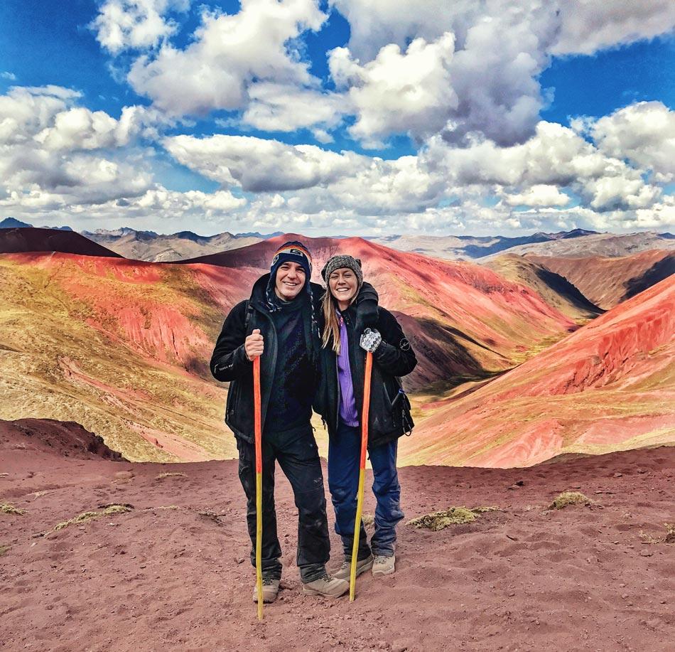Excursión 1 día Rainbow Mountain, Montaña 7 colores, Arcoíris, Vinicunca, Colorada, Perú Red Valley Valle Rojo