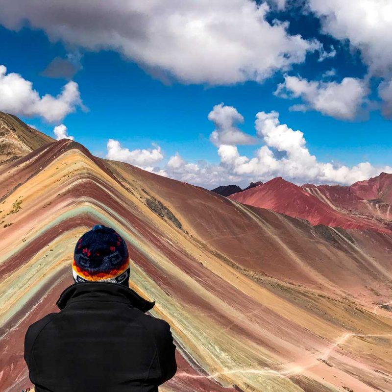 Excursión 1 día Rainbow Mountain, Montaña 7 colores, Arcoíris, Vinicunca, Colorada, Perú Red Valley cumbre