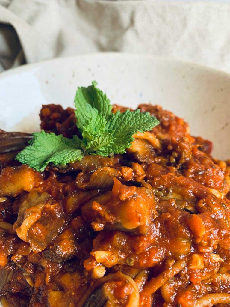 Boloñesa de lentejas. Salsa vegana, legumbres, receta Blog Come Vive Viaja Irene
