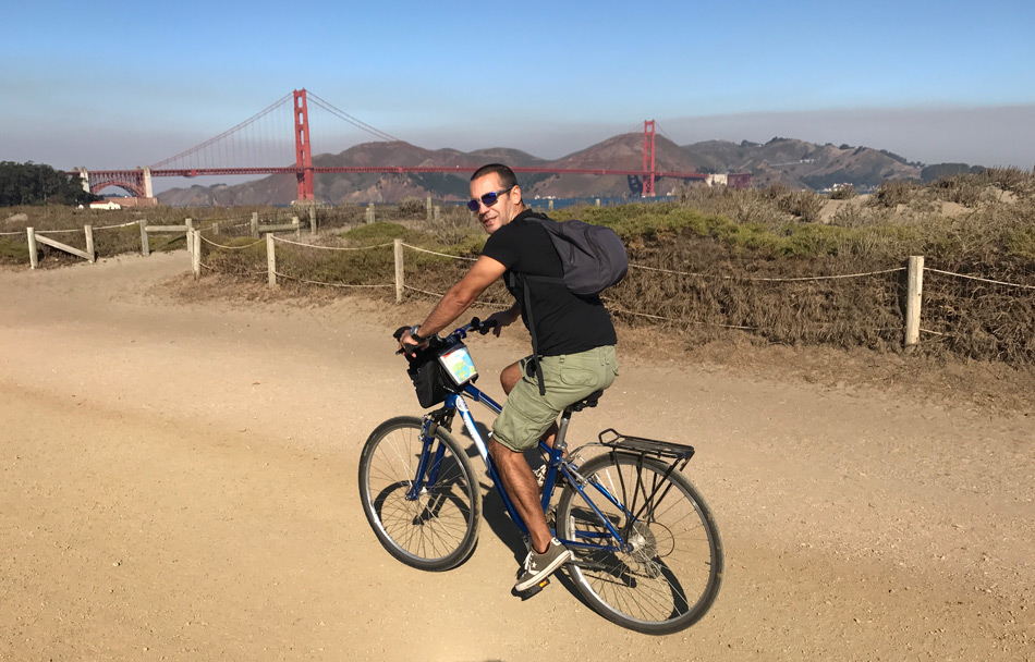 Cruzar el Golden Gate en bicicleta- un imprescindible de San Francisco