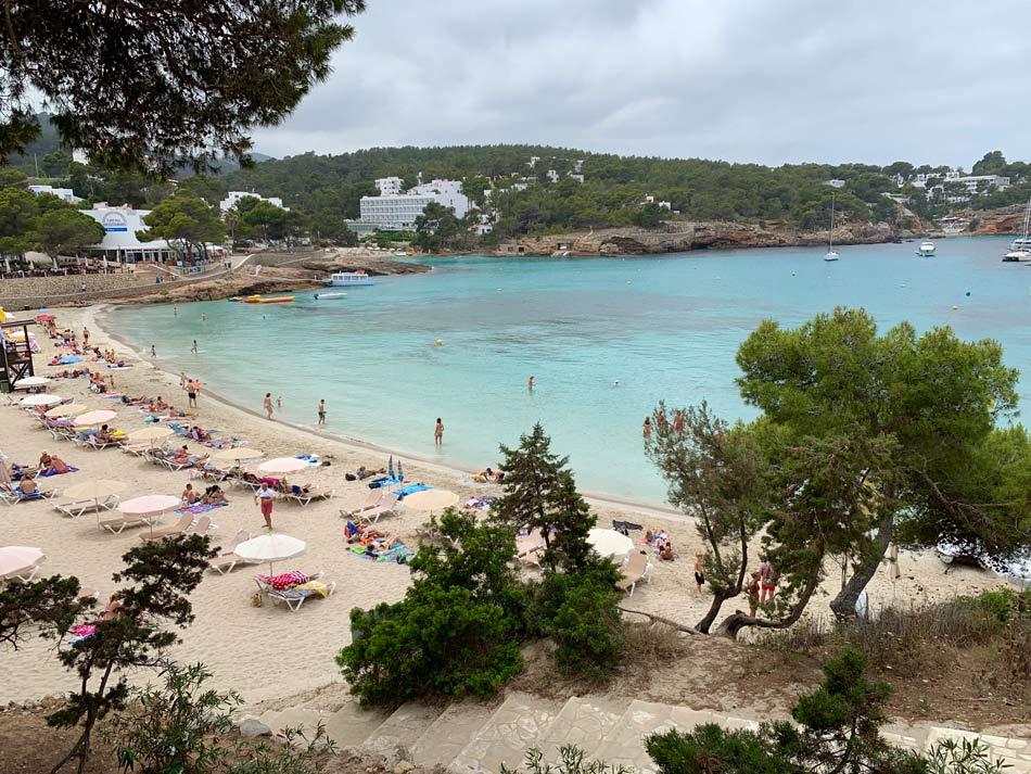 Faro de Punta Moscarter. Cómo llegar. Portinax, playa, cala, pueblo, costa, Ibiza