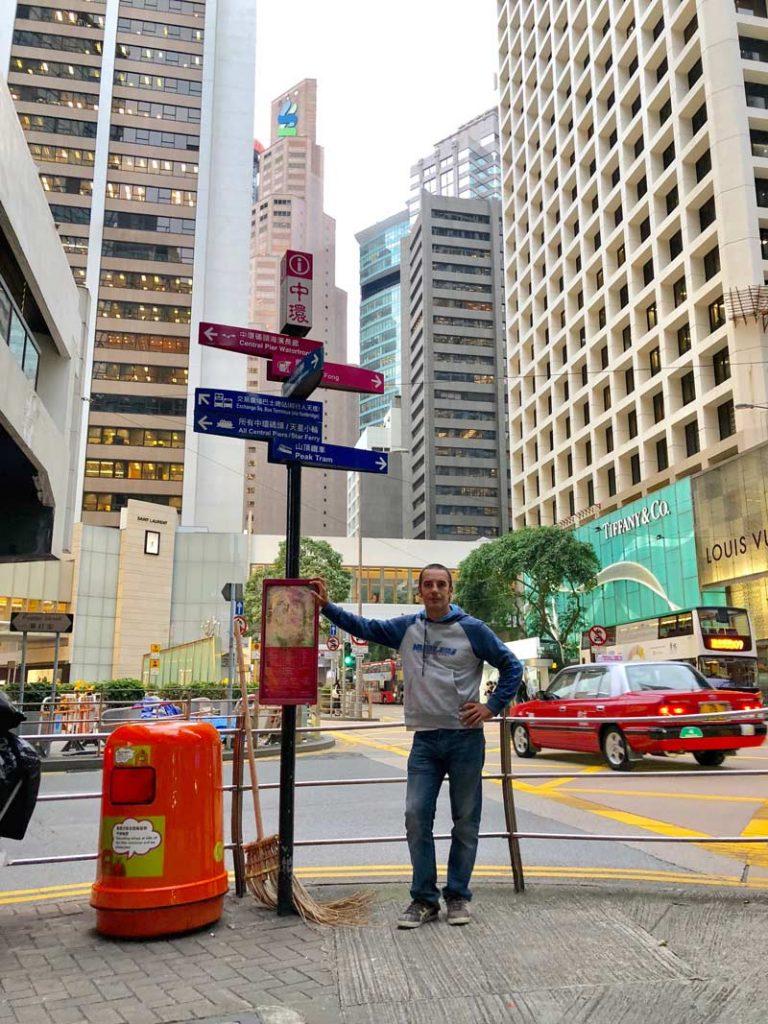 Hong Kong señales ciudad downtown
