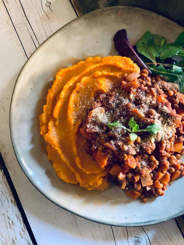 Ragu de lentejas, vegano, italiano, receta, sin carne Come Vive Viaja