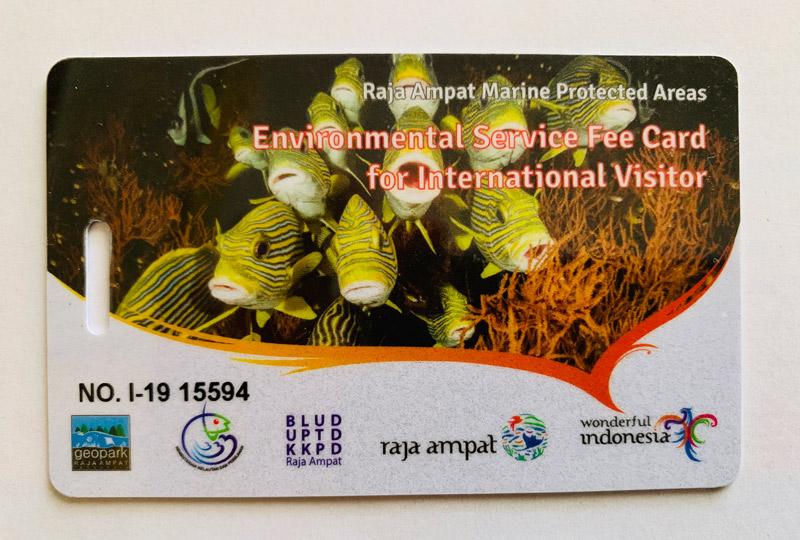 Carnet entrada Parque Natural Raja Ampat, permiso, paraíso buceo turismo