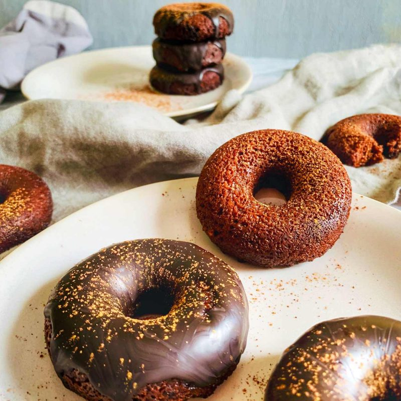 Donuts de chocolate rápido sin horno 10 minutos sin gluten