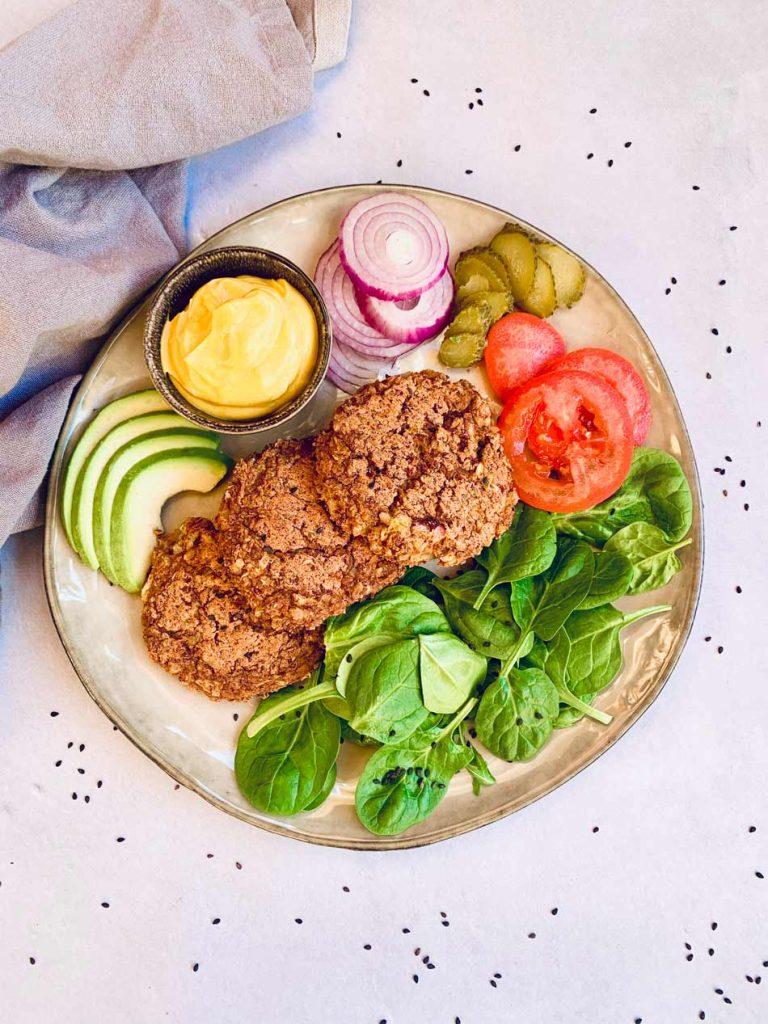 Burger de alubias rojas y arroz, vegana, rica, la mejor