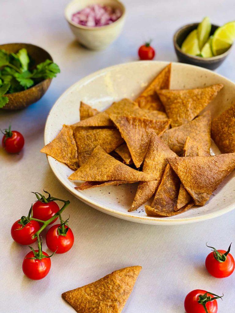 Nachos caseros de quinoa sin gluten saludables