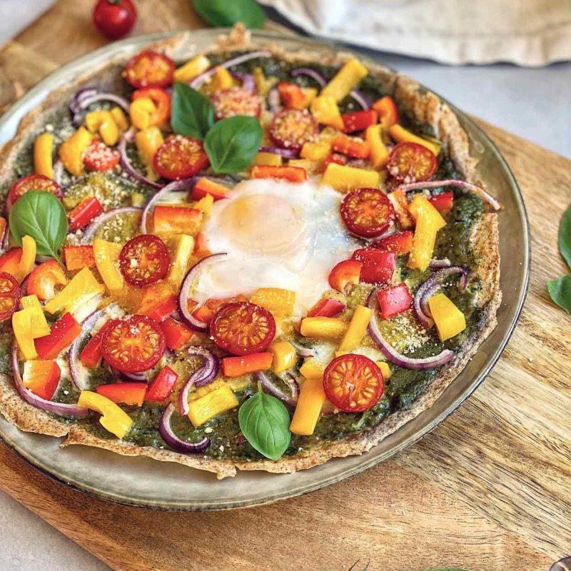 Pizza trigo sarraceno, sin gluten, fácil, saludable, crujiente, rica