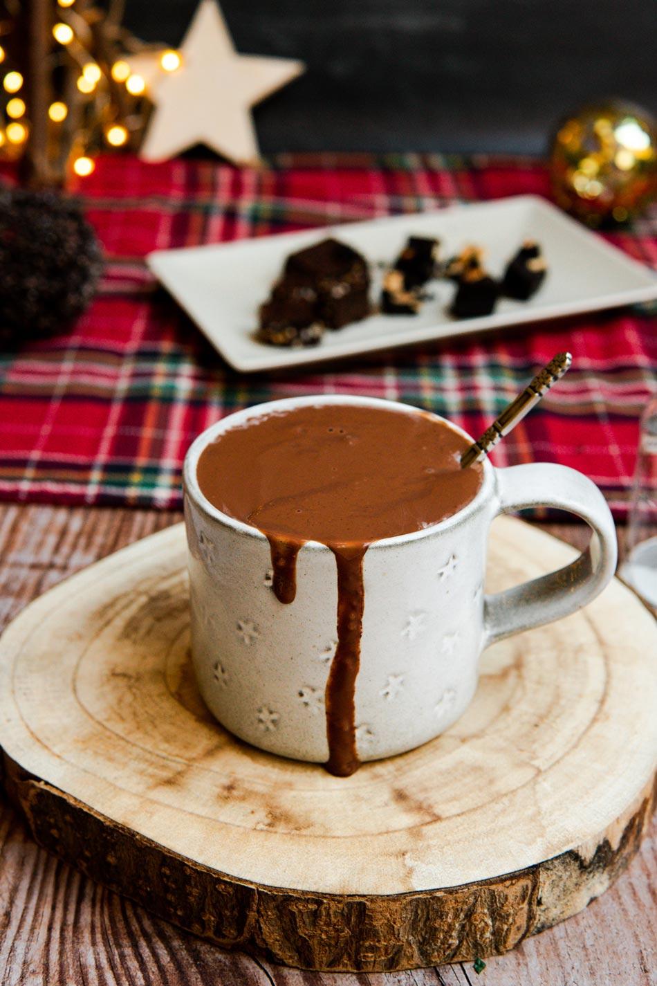 Chocolate a la taza cremoso y saludable