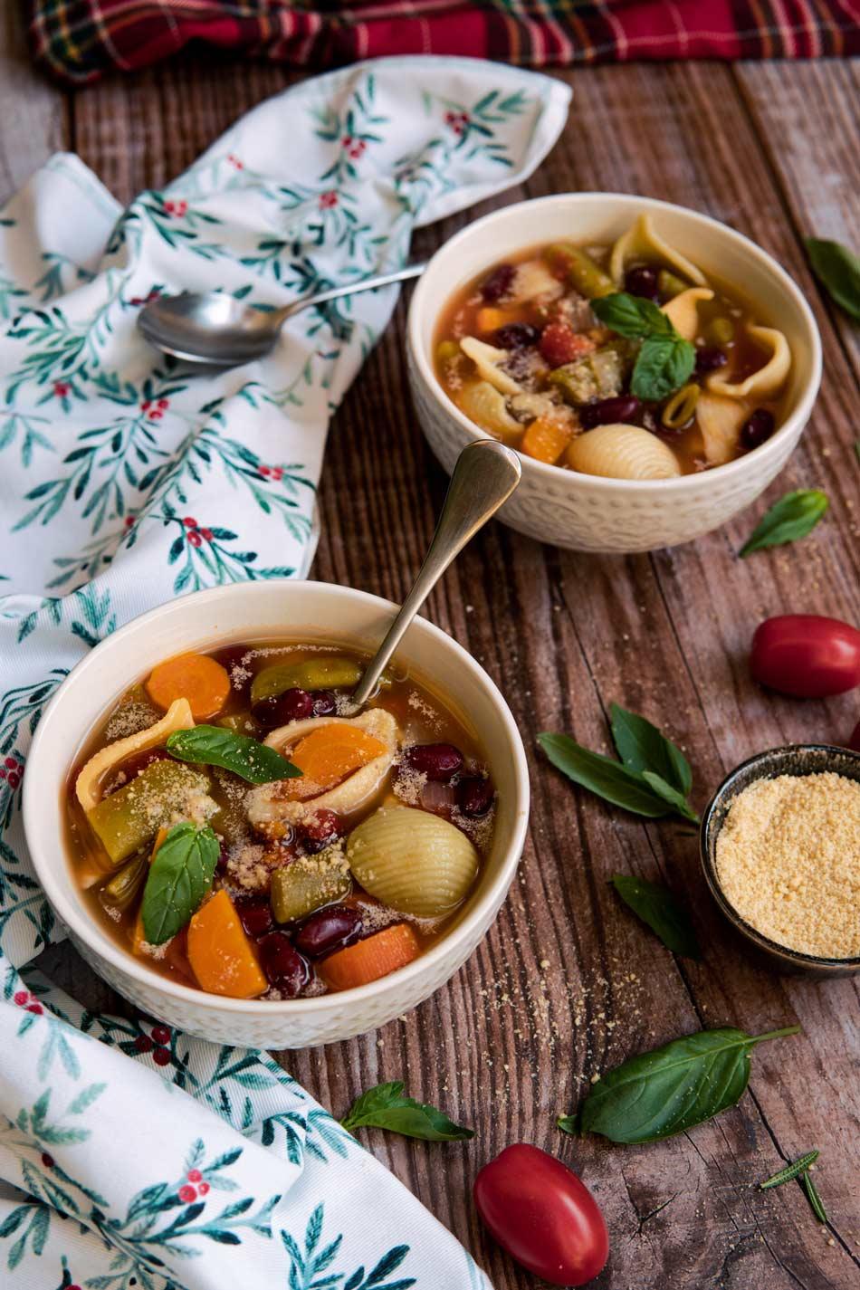 Sopa Minestrone sin gluten y reconfortante